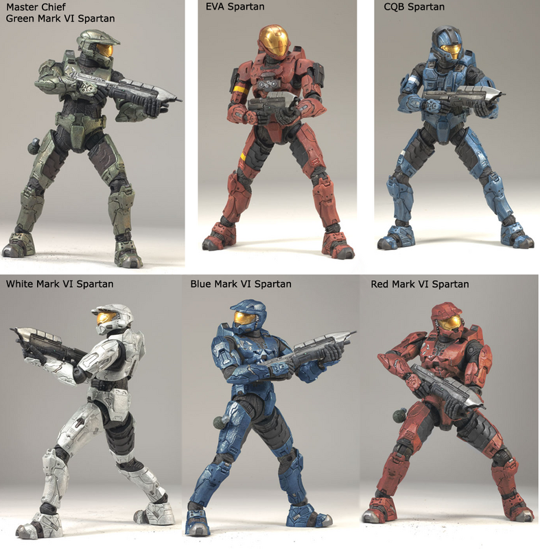 Halo 3 Spartan and Elite Multiplayer McFarlane Action Figures